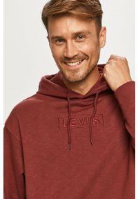 Levi's® - Levi's - Bluza. Okazja: na spotkanie biznesowe, na co dzień. Kolor: czerwony. Materiał: dzianina. Wzór: gładki. Styl: casual, biznesowy