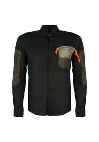 """Takeshy Kurosawa Koszula """"Air Pocket"""". Materiał: tkanina. Długość: długie. Wzór: aplikacja"""
