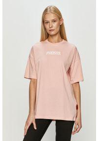 Różowa bluzka Prosto. na co dzień, casualowa, z aplikacjami