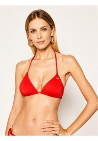 Czerwone góra bikini Emporio Armani