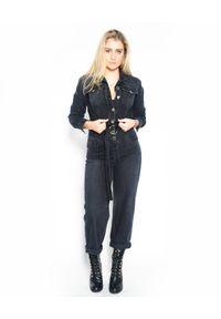 Pinko - PINKO - Jeansowy kombinezon Pax Tuta. Kolor: szary. Materiał: jeans. Styl: klasyczny