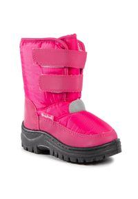 Różowe śniegowce Playshoes na spacer, z aplikacjami