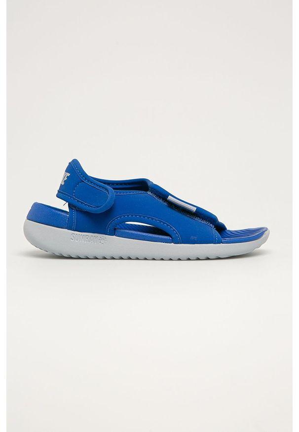 Niebieskie sandały Nike Kids na rzepy