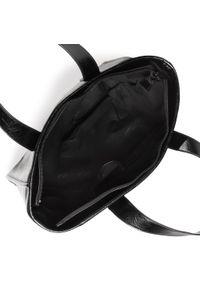 Czarna torebka klasyczna Jenny Fairy na ramię, skórzana