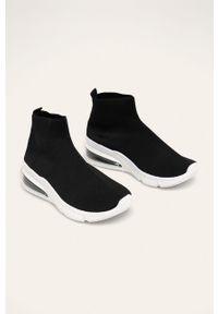 Czarne buty sportowe Answear Lab na średnim obcasie, z cholewką, na obcasie