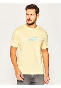 New Balance T-Shirt Nbathprpfrendst MT01516S Żółty Regular Fit. Kolor: żółty