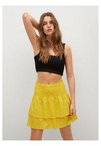 Żółta spódnica mini mango