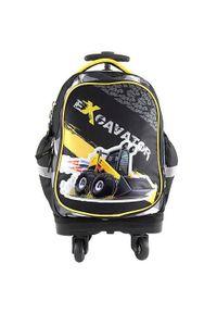 Czarny plecak Target w kolorowe wzory