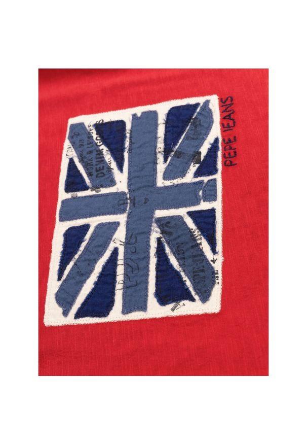 Czerwona koszulka z długim rękawem Pepe Jeans