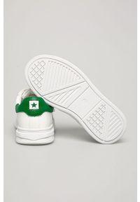 Białe buty sportowe Big-Star z okrągłym noskiem, z cholewką, na rzepy
