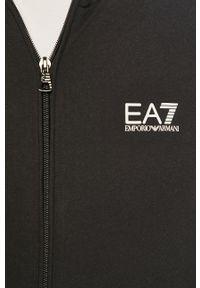 Czarna bluza rozpinana EA7 Emporio Armani bez kaptura