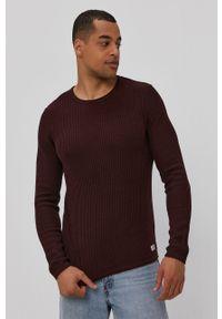 Premium by Jack&Jones - Sweter. Okazja: na co dzień. Kolor: fioletowy. Materiał: materiał. Długość rękawa: długi rękaw. Długość: długie. Wzór: ze splotem. Styl: casual