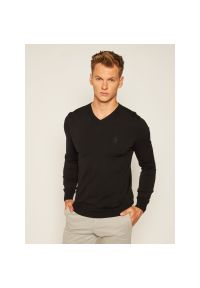 Czarny sweter klasyczny Trussardi Jeans