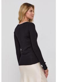MAX&Co. - Sweter. Kolor: czarny. Materiał: dzianina. Długość rękawa: długi rękaw. Długość: długie