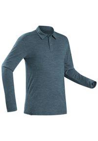 Koszulka turystyczna FORCLAZ długa, z długim rękawem, polo