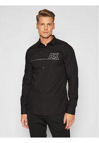 Armani Exchange Koszula 6KZC24 ZNVRZ 1200 Czarny Regular Fit. Kolor: czarny
