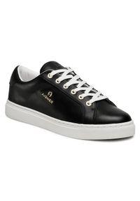 Czarne sneakersy Aigner