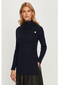 Sportmax Code - Sweter. Typ kołnierza: golf. Kolor: niebieski. Materiał: materiał. Długość rękawa: raglanowy rękaw