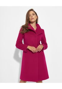 CINZIA ROCCA - Kaszmirowy płaszcz w kolorze fuksji. Kolor: różowy, wielokolorowy, fioletowy. Materiał: kaszmir
