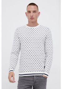 PRODUKT by Jack & Jones - Produkt by Jack & Jones - Sweter z domieszką wełny. Okazja: na co dzień. Kolor: biały. Materiał: wełna. Długość rękawa: długi rękaw. Długość: długie. Styl: casual