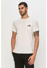 Biały t-shirt The North Face z nadrukiem, na co dzień, casualowy