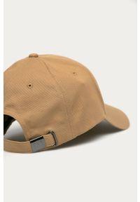 Beżowa czapka z daszkiem TOMMY HILFIGER gładkie