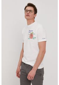 Mc2 Saint Barth - MC2 Saint Barth - T-shirt. Okazja: na co dzień. Kolor: biały. Wzór: aplikacja. Styl: casual