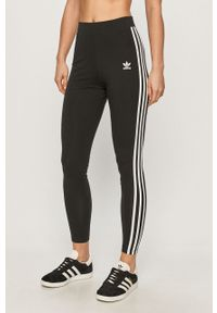 Czarne legginsy adidas Originals z aplikacjami