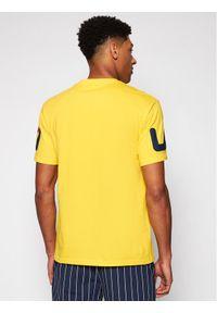 Fila T-Shirt Allan 688463 Żółty Regular Fit. Kolor: żółty