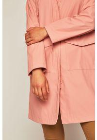 Różowy płaszcz medicine na co dzień, casualowy, z kapturem