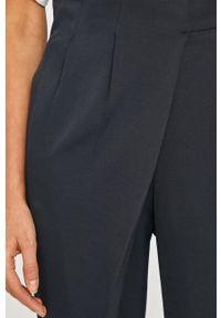 Niebieskie spodnie materiałowe Liviana Conti z podwyższonym stanem, gładkie