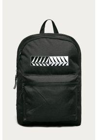 Czarny plecak Volcom z nadrukiem