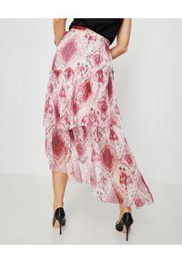 ZIMMERMANN - Różowa jedwabna spódnica. Kolor: wielokolorowy, różowy, fioletowy. Materiał: jedwab. Wzór: aplikacja