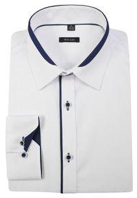 Elegancka koszula Grzegorz Moda Męska do pracy, długa, z długim rękawem