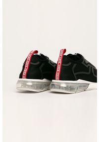 Czarne buty sportowe DKNY z okrągłym noskiem, z cholewką
