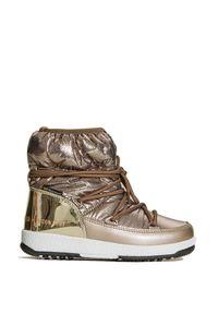 Moon Boot - Buty zimowe MOON BOOT JR GIRL LOW NYLON PREMIUM WP. Materiał: nylon. Szerokość cholewki: normalna. Sezon: zima. Styl: retro