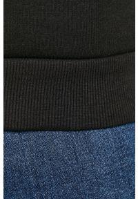 Czarna bluza nierozpinana Only & Sons casualowa, bez kaptura