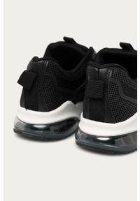 Czarne buty sportowe Answear Lab z okrągłym noskiem, z cholewką, na obcasie
