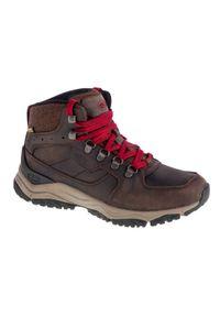 Brązowe buty trekkingowe keen z cholewką