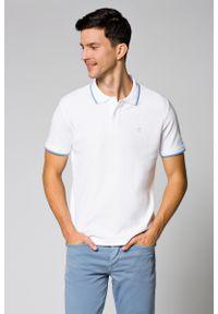 Biała koszulka polo Lancerto z krótkim rękawem, polo, klasyczna