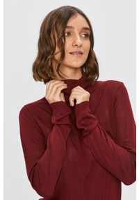 Fioletowy sweter Answear Lab z długim rękawem, casualowy, długi, na co dzień