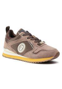 Trussardi Jeans Sneakersy 79A00556 Brązowy. Kolor: brązowy