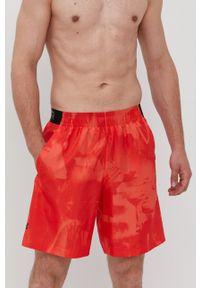 Under Armour - Szorty. Okazja: na co dzień. Kolor: czerwony. Materiał: tkanina. Styl: casual