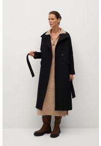 Czarny płaszcz mango bez kaptura, casualowy, na co dzień
