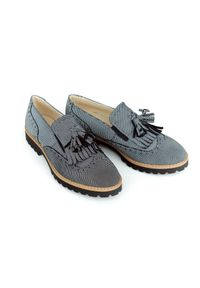 Zapato - półbuty - skóra naturalna - model 247 - kolor kropki. Okazja: do pracy, na imprezę, na spacer. Zapięcie: bez zapięcia. Materiał: skóra. Szerokość cholewki: normalna. Wzór: kropki. Obcas: na obcasie. Styl: klasyczny, elegancki. Wysokość obcasa: niski