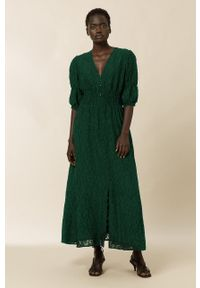 IVY & OAK - Sukienka MARGARITA. Kolor: turkusowy. Typ sukienki: rozkloszowane