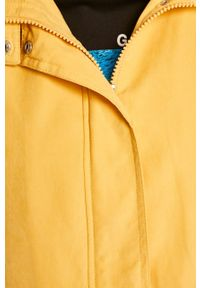 Żółta kurtka Jacqueline de Yong na co dzień, z kapturem, casualowa