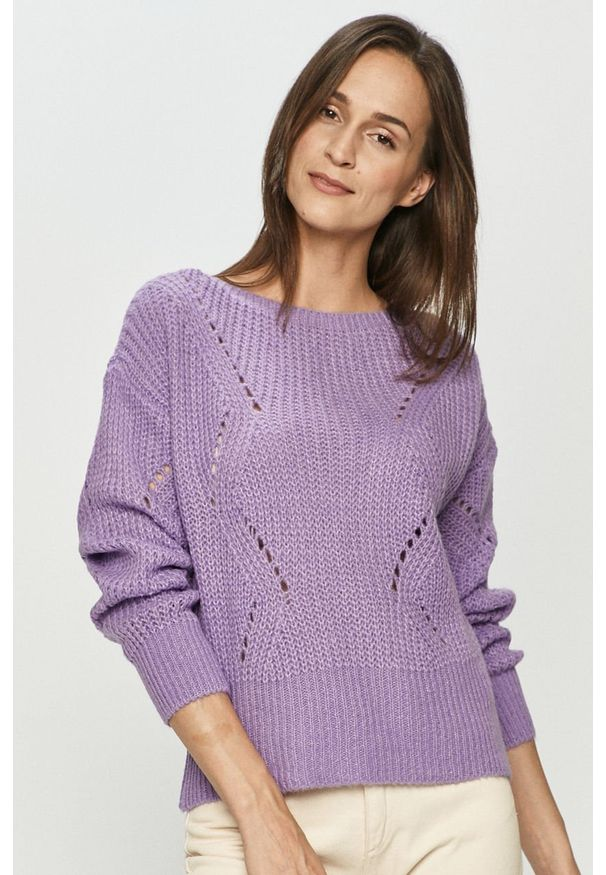 Fioletowy sweter Haily's casualowy, z długim rękawem