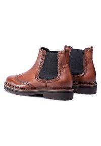 Brązowe buty zimowe Marc O'Polo z cholewką, klasyczne