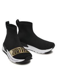 Versace Jeans Couture Sneakersy E0VWASA7 Czarny. Kolor: czarny